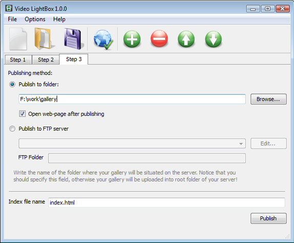 Video LightBox Unlimited Website License Screenshot