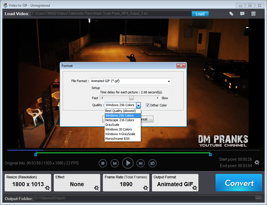 Video to GIF, Video Software Screenshot