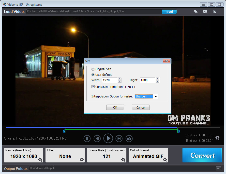 Video Capture Software, Video to GIF Screenshot
