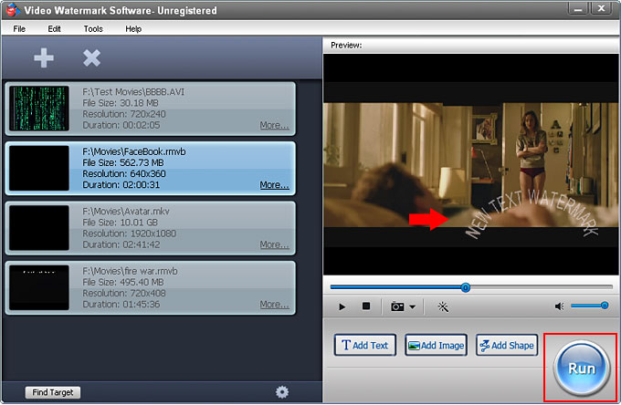 Watermark Software, Video Watermark Pro Screenshot
