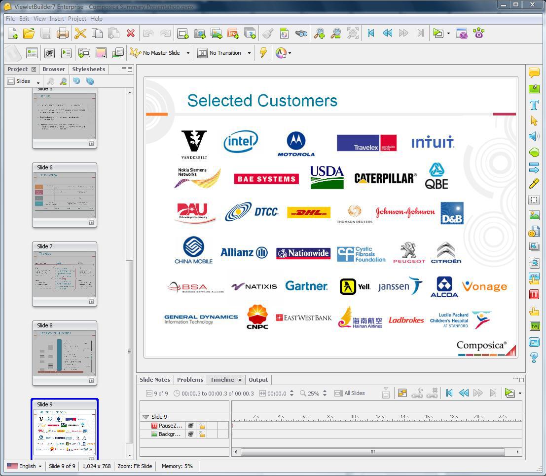 ViewletBuilder7 Enterprise Screenshot