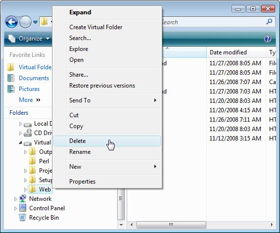 Virtual Folder, Software Utilities Screenshot