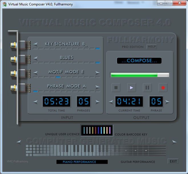 Virtual Music Composer V4.0 - FULLHARMONY Screenshot