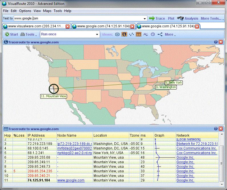 VisualRoute Personal Edition Screenshot