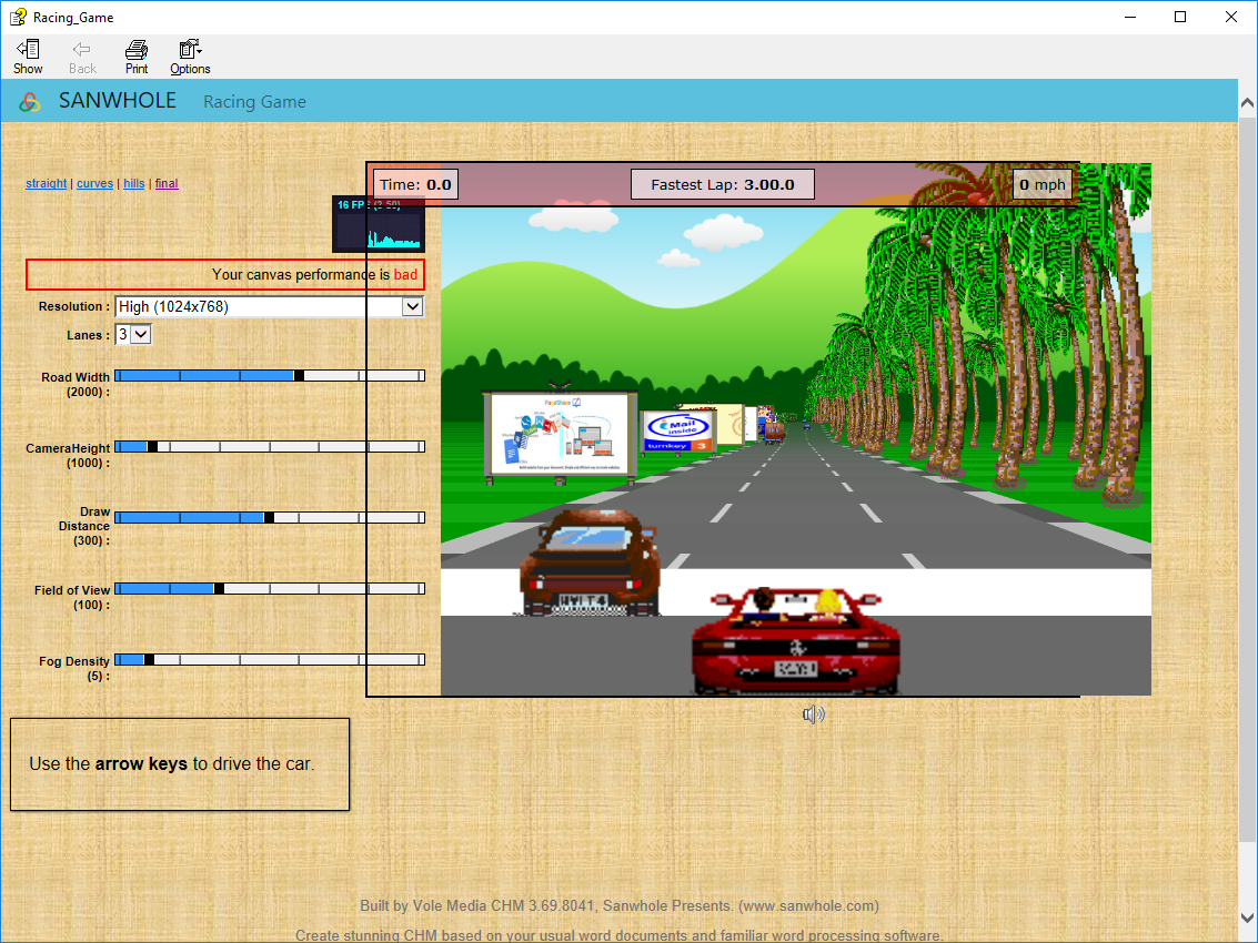 Writing and Journaling Software, Vole Media CHM Professional Edition Screenshot