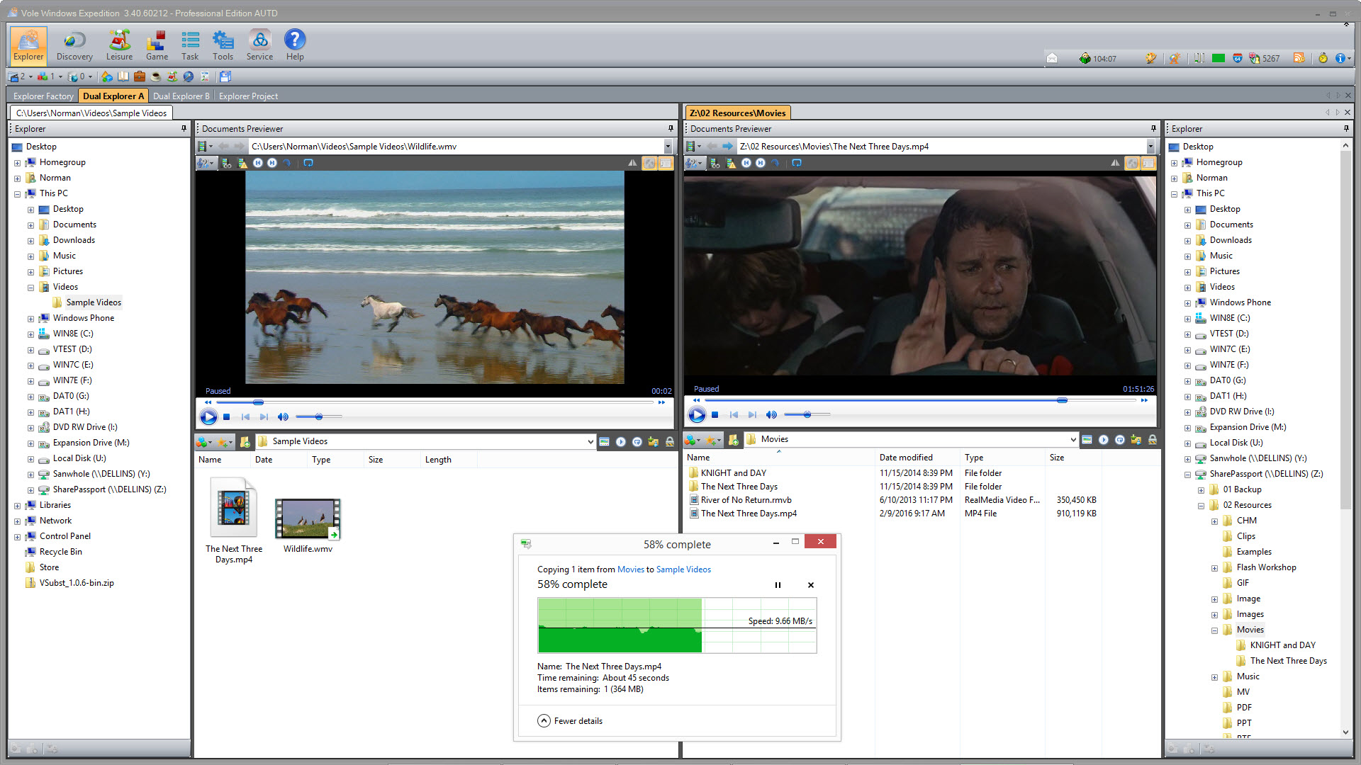 Vole Windows Expedition Ultimate Edition, File Management Software Screenshot
