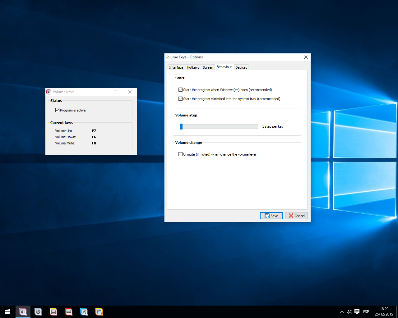 Volume Keys, Other Utilities Software Screenshot