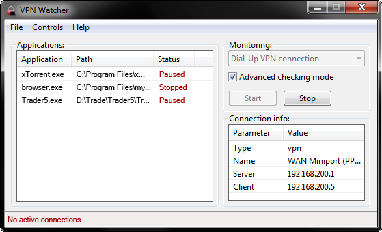VPN Watcher Screenshot