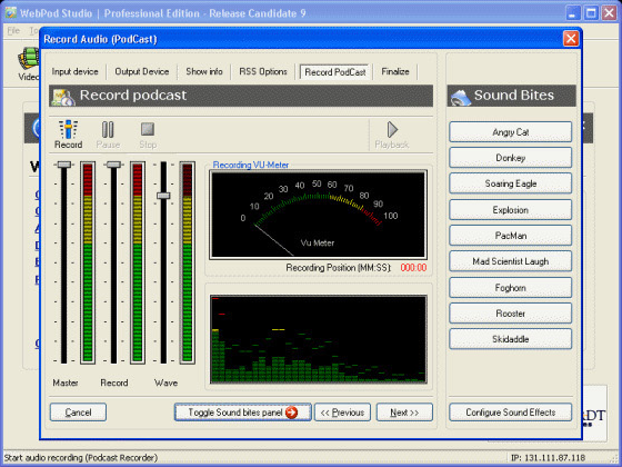 WebPod Studio Screenshot