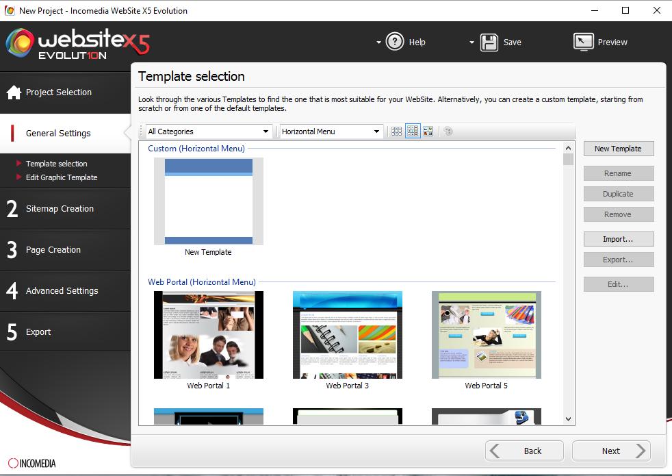 Website Creator, Development Software Screenshot