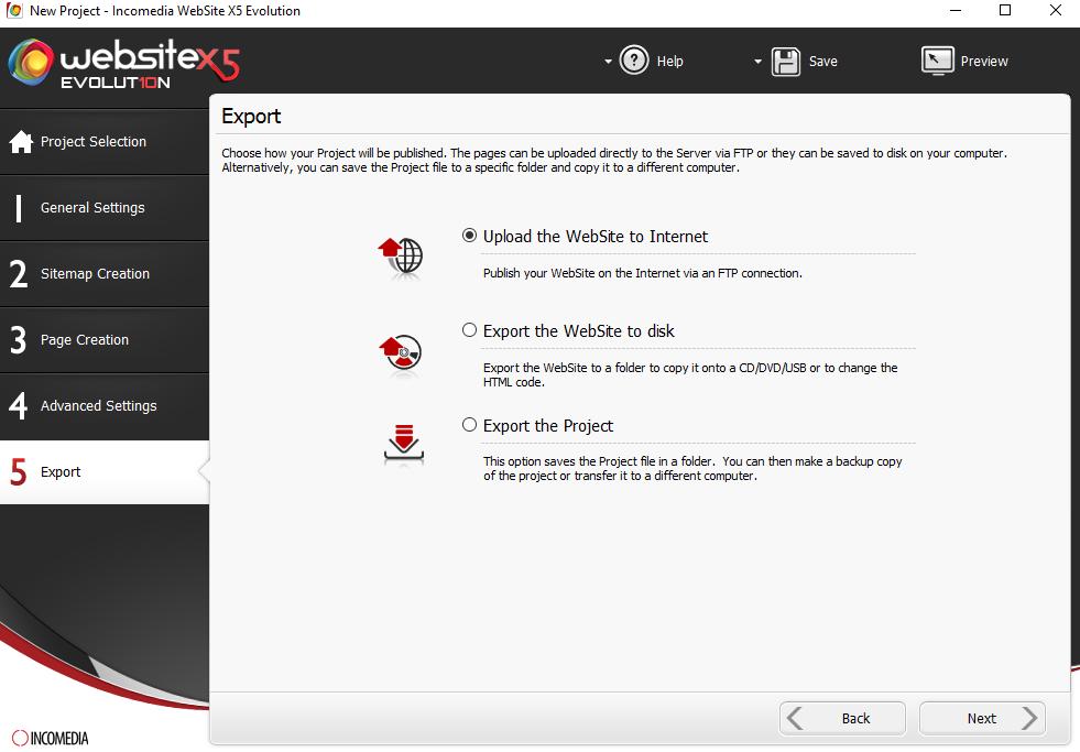 Website Creator, Development Software, Website Builder Software Screenshot