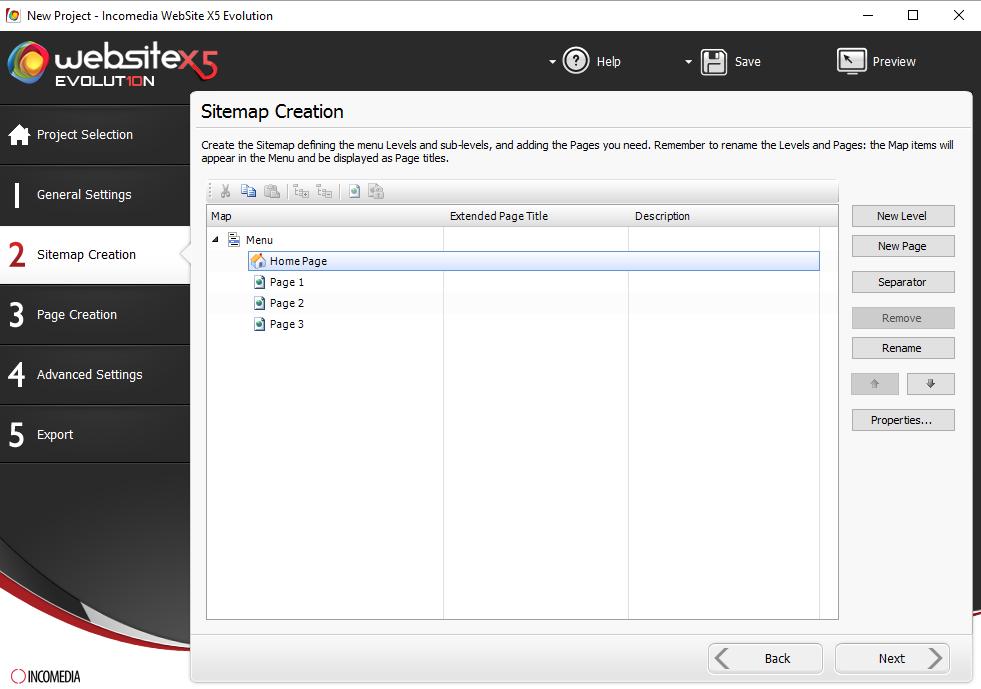 Website Builder Software, Website Creator Screenshot