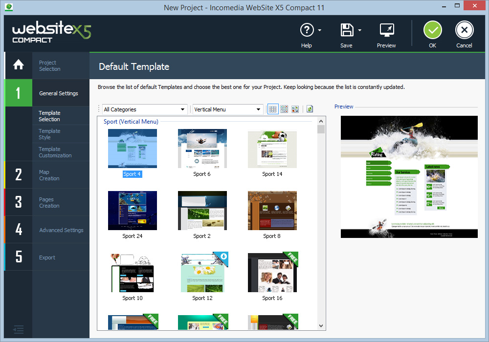 WebSite X5 Compact 11 Screenshot