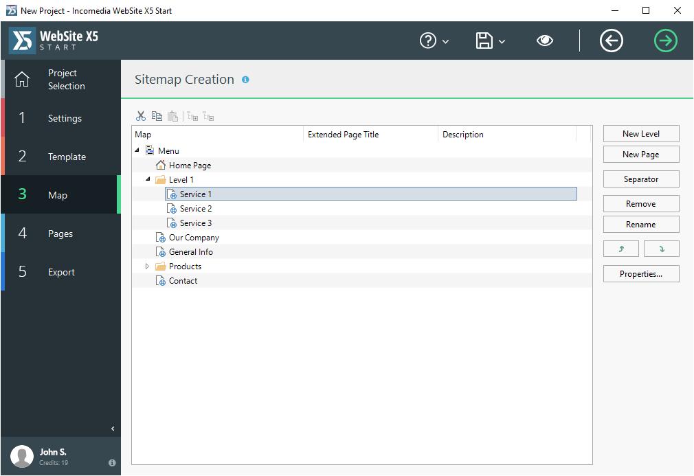 Development Software, WebSite X5 Start Screenshot