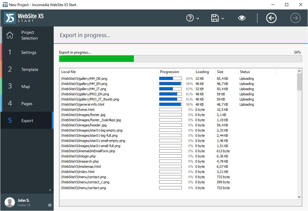 WebSite X5 Start, Development Software, Website Builder Software Screenshot