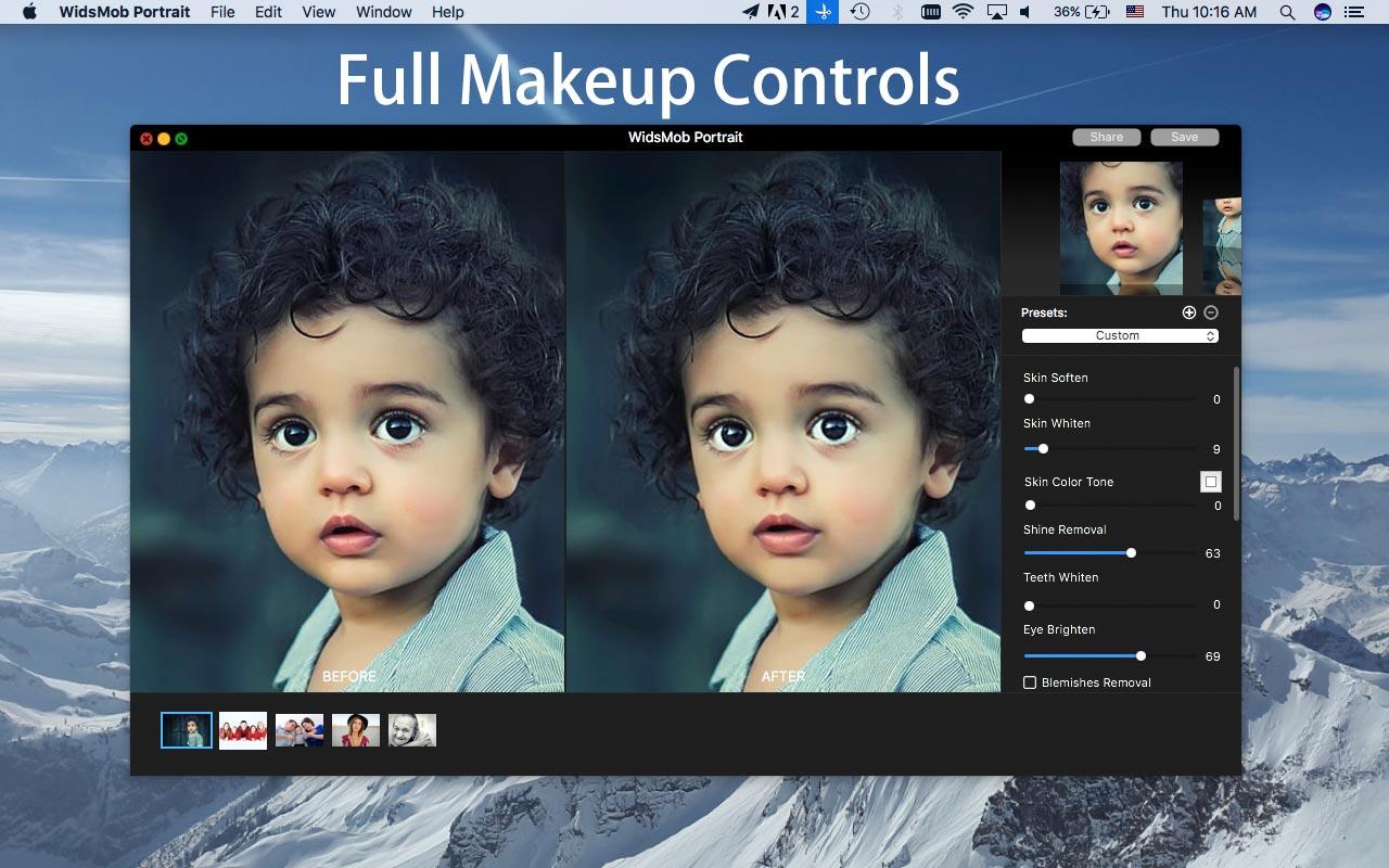 Photo Editing Software, WidsMob Portrait Screenshot