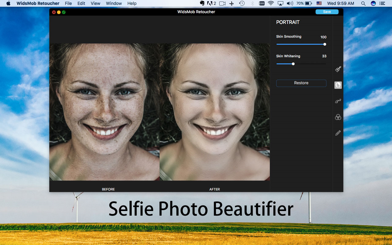 Photo Editing Software, WidsMob Retoucher Screenshot