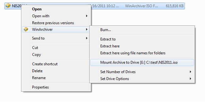 Compression and Extraction Software, WinArchiver Screenshot