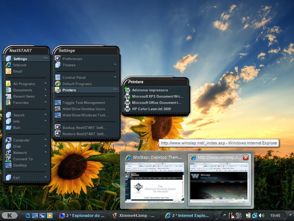 Winstep Xtreme, Desktop Customization Software Screenshot