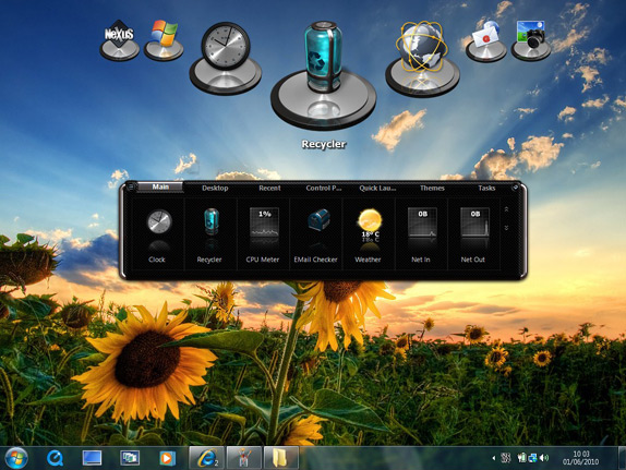 Desktop Customization Software, Winstep Xtreme Screenshot
