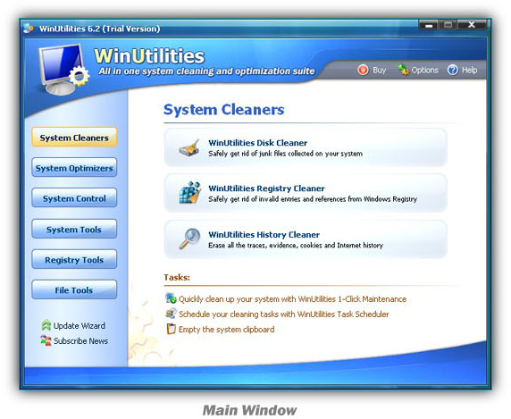 WinUtilities Screenshot
