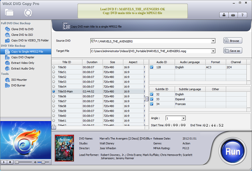 WinX DVD Copy Pro, DVD Copy Software Screenshot