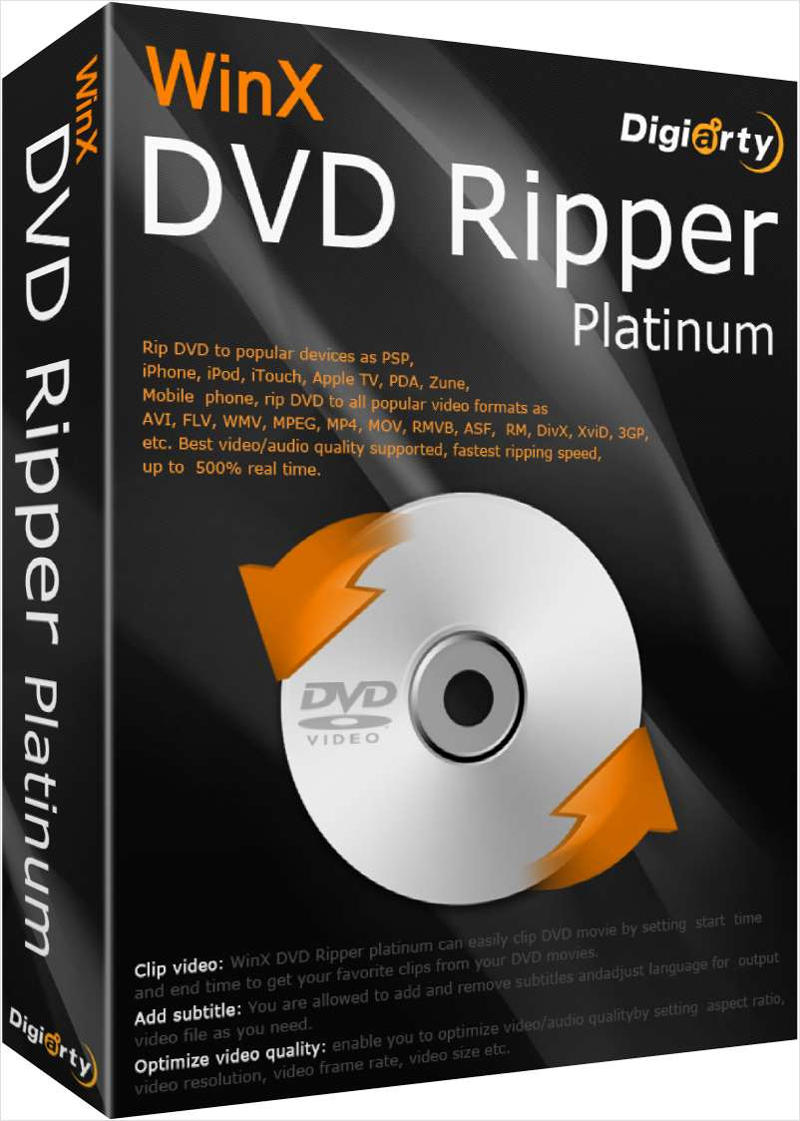 WinX DVD Ripper Platinum 8.8.0.208