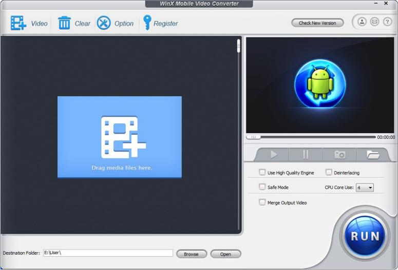 WinX Mobile Video Converter Screenshot