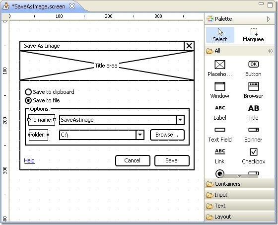 WireframeSketcher, Website Builder Software Screenshot
