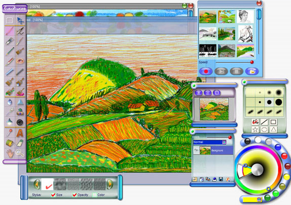 Wizardbrush, Art Technique Software Screenshot