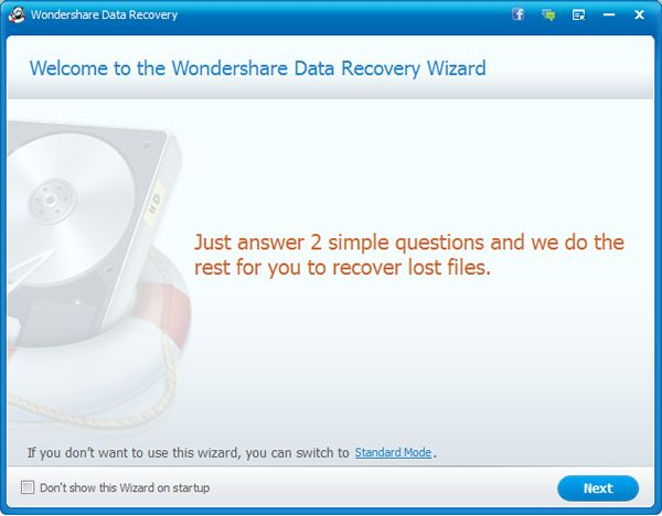 Wondershare Data Recovery for Mac Screenshot