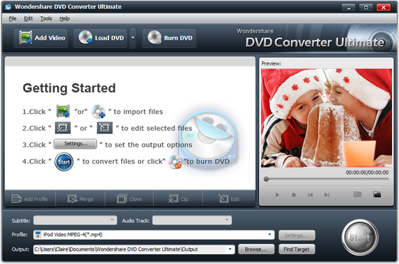 Wondershare DVD Converter Ultimate Screenshot