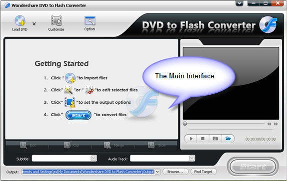 Wondershare DVD to Flash Converter Screenshot