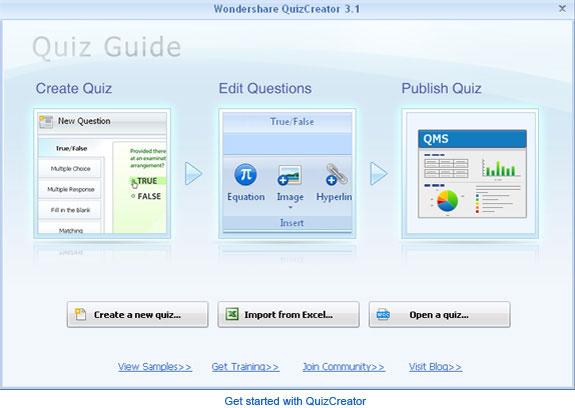 Wondershare QuizCreator Screenshot