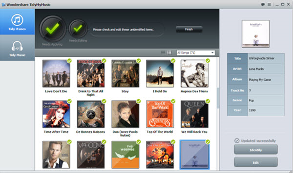 Audio Software, Wondershare TidyMyMusic for Windows Screenshot