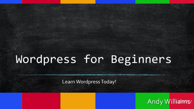 Wordpress for Beginners Screenshot