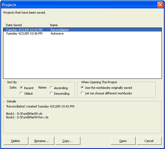 Business & Finance Software, Workbook Compare Screenshot
