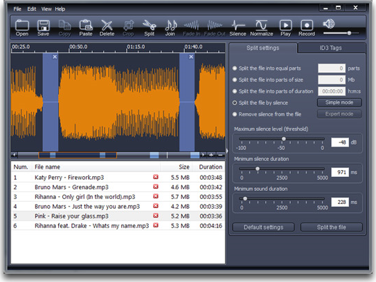 X-Wave MP3 Cutter Joiner 3.0 Screenshot