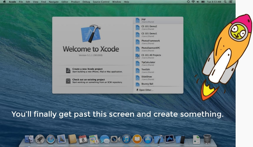 how to create an app using xcode