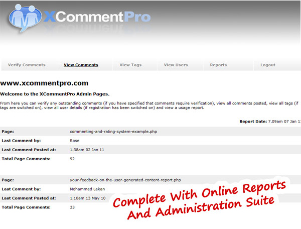 XCommentPro Screenshot