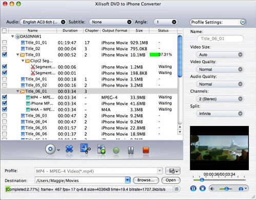 Xilisoft iPhone Software Suite for Mac Screenshot
