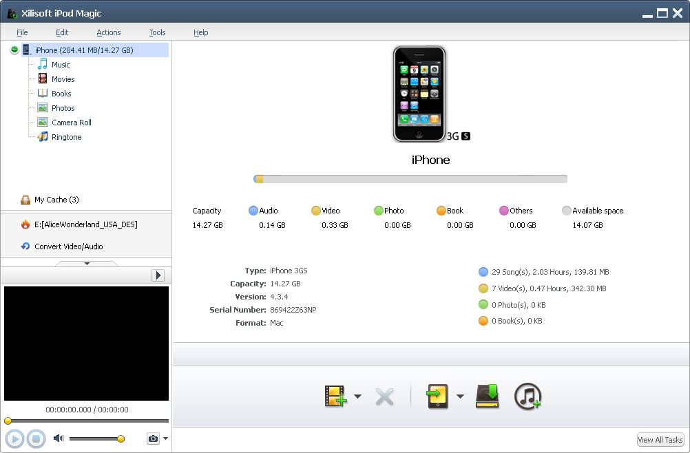 Xilisoft iPod Magic Screenshot