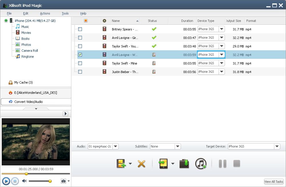 Xilisoft iPod Magic, Audio Software Screenshot