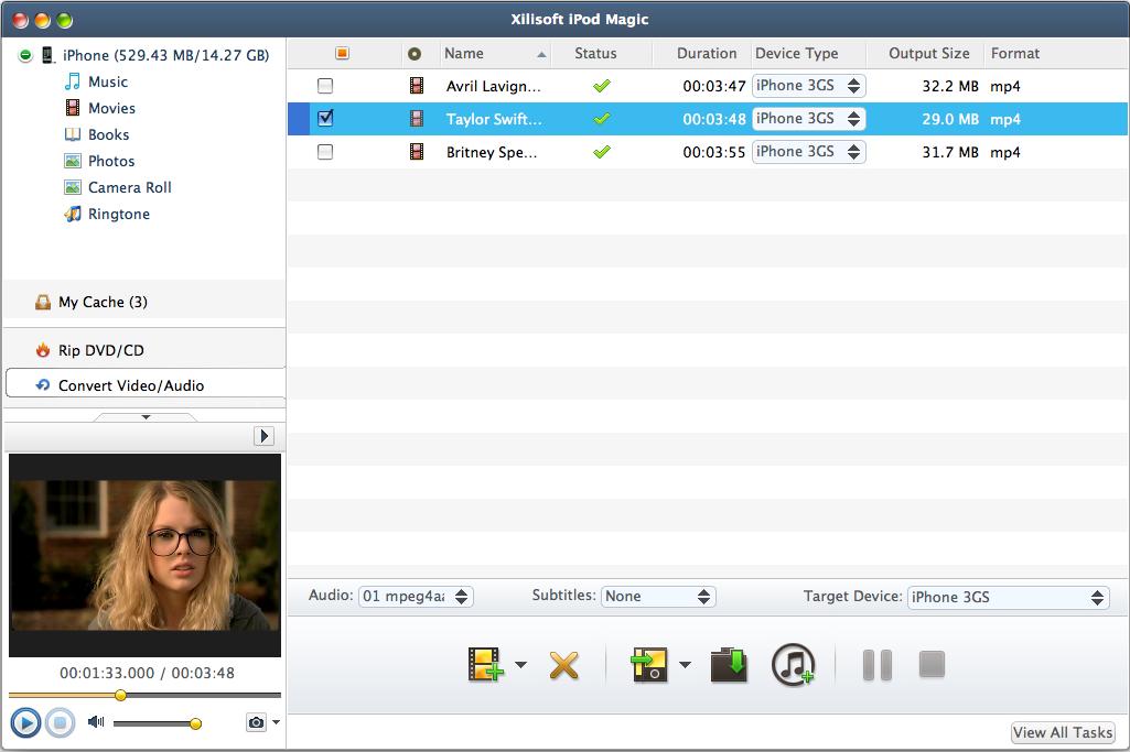 Xilisoft iPod Magic, Audio Software, iPod iPhone iTunes Software Screenshot