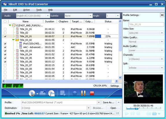 Xilisoft iPod Mate, iPod iPhone iTunes Software Screenshot