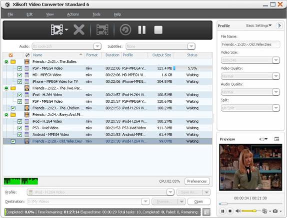 DVD Ripper Software, Xilisoft Ripper Pack Platinum Screenshot