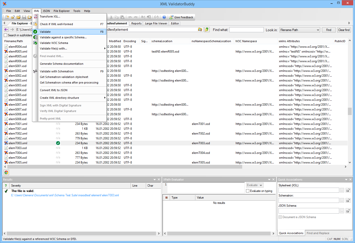 Development Software, XML ValidatorBuddy Screenshot
