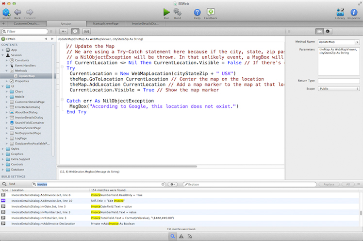 Development Software, Xojo Desktop Screenshot