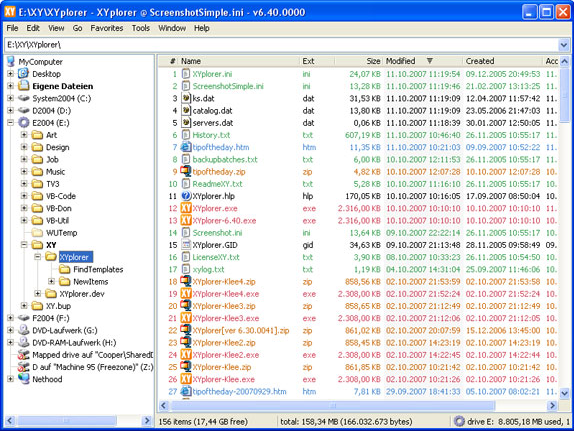 File Management Software, XYplorer Screenshot