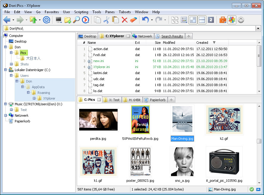 XYplorer Lifetime License Pro, File Management Software Screenshot